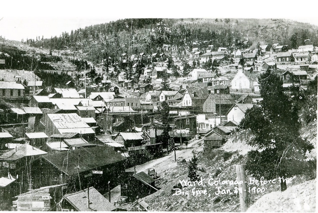 Town of Ward, January 1900, before the fire